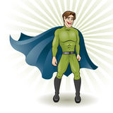 Super hero. Young super hero and man Royalty Free Stock Images