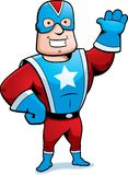 Super Hero. A cartoon costumed super hero Stock Photo