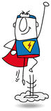Super Hero in action Royalty Free Stock Images