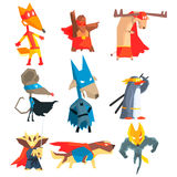 Super Hero Animals Collection Stock Photography