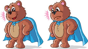 Super hero bear Stock Image