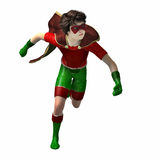 Super hero boy 5. Boy wearing super hero suit with cape running Stock Images