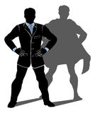 Super Hero Business Man Stock Image