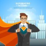 Super Hero Businessman Concept Royalty Free Stock Image