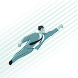 Super Hero Businessman Flying Royalty Free Stock Photography