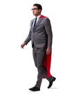 The super hero businessman isolated on white Royalty Free Stock Photo