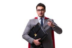 The super hero businessman isolated on white Stock Photos