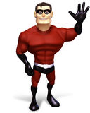 Super hero with bye bye pose Royalty Free Stock Photography