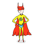 Super Hero Cartoon Royalty Free Stock Photography