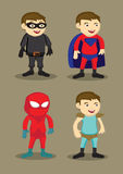 Super Hero Character Costumes Vector Illustration Royalty Free Stock Photos