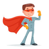 Super Hero Character Icon Retro Cartoon Design Vector Illustration Stock Photos