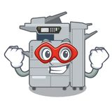 Super hero copier machine isolated in the cartoon. Vector illustration vector illustration