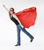 Super Hero Costume Fun Concept. Adult Super Hero Costume Fun Concept royalty free stock image