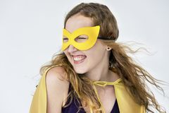 Super Hero Costume Fun Concept stock photos