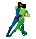Super Hero Couple Illustration Silhouette Royalty Free Stock Photo