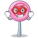 Super hero cute lollipop character cartoon. Vector illustration Royalty Free Stock Images