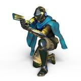 Super hero. 3D CG rendering of a super hero Stock Photography