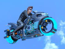 Super hero. 3D CG rendering of a super hero stock images