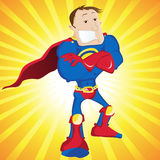 Super Hero Dad. Super Hero Dad on Yellow Background Royalty Free Stock Photos