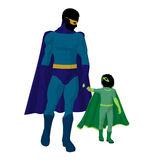 Super Hero Dad Illustration Silhouette Royalty Free Stock Image