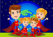 Superhero Family Stock Images