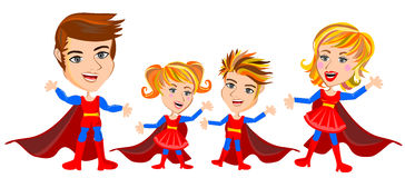 Superhero Family Stock Image