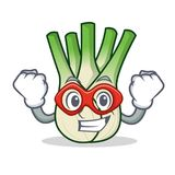 Super hero fennel character cartoon style. Vector illustration Royalty Free Stock Images