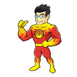 Super hero fireman cartoon. Vector illustration Royalty Free Stock Photos
