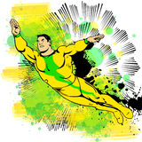 Super Hero Flying Royalty Free Stock Photography