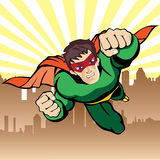 Super hero flying Stock Photo