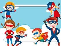 Free Super Hero Frame Template Stock Photo - 145176450
