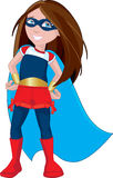 Super Hero Girl. Character illustration of a strong, young female superhero Royalty Free Stock Photography