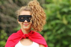 Super hero girl Stock Image