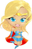 Super Hero Girl in the fly Royalty Free Stock Photo