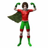 Super hero girl 3. Girl showing mussels in super hero stance Stock Photo