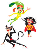Super hero Girls Royalty Free Stock Image