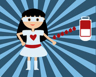 The super hero give blood Stock Photography
