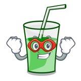 Super hero green smoothie character cartoon. Vector illustration vector illustration