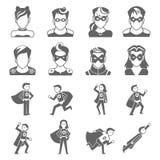 Super hero icon Stock Photos