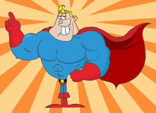 Super hero illustration Royalty Free Stock Photos