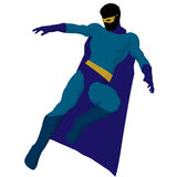 Super Hero Illustration Silhouette Royalty Free Stock Photo