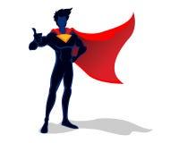 Super Hero illustration. Vector illustration of super hero figure with cape Royalty Free Stock Photo