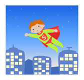 Super hero_kid I royalty free stock image