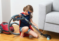 Super hero kid. Royalty Free Stock Photo