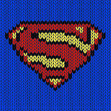Super hero knitted vector logo Stock Image