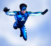 Super hero male front view Stock Images