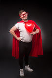 Super hero man in love Stock Photo
