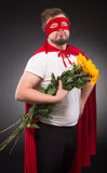 Super hero man in love Royalty Free Stock Photos