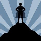 Super hero man silhouette Royalty Free Stock Photo