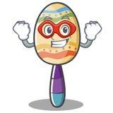 Super hero maracas character cartoon style Royalty Free Stock Photo